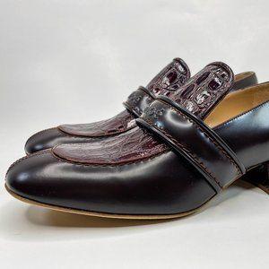 Chloe Cheryl Block-Heel Leather Loafers Sz 40 / 10